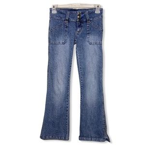 Hipster Flare Light Wash Thick Waist Size 8 Jeans